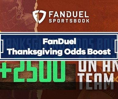 FanDuel 25/1 Odds Boost on Thanksgiving Day NFL Games